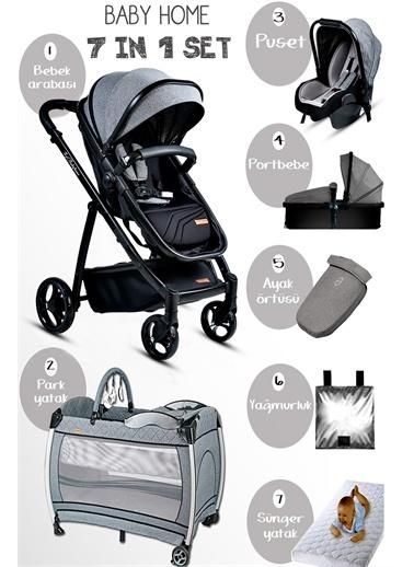 Baby Home Baby Home Gold 955 Vip Travel Sistem Bebek Arabası 600 Oyun Parkı Beşik Gri